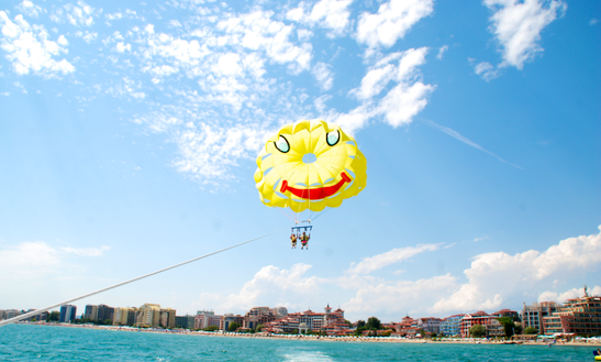 Enjoy Parasailing In Sunny Beach, Bulgaria