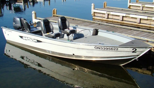 17' Lund Fishing Boat Rental In Ontario, Canada