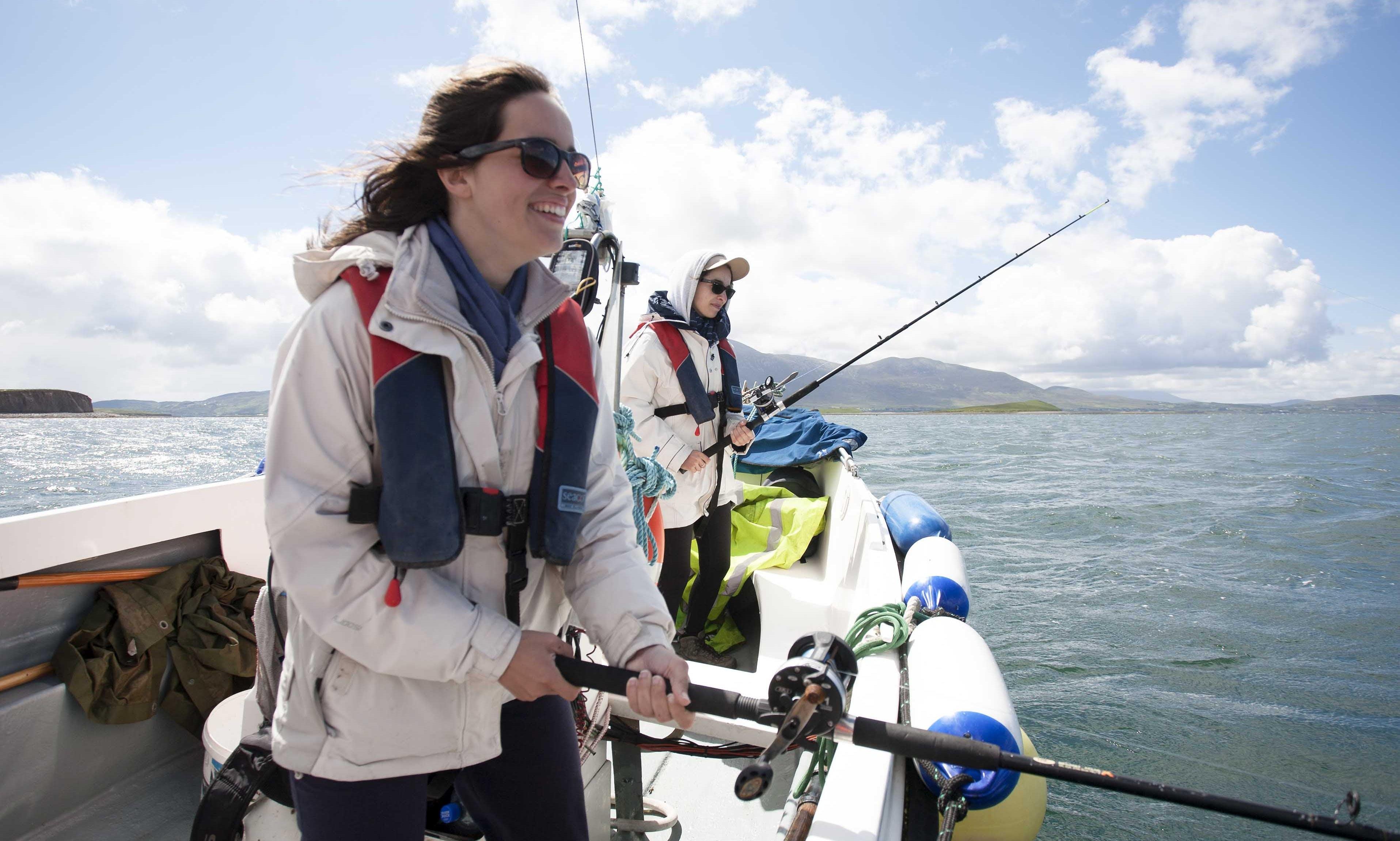 Explore Clew Bay islands archipelago from Rosmoney Pier