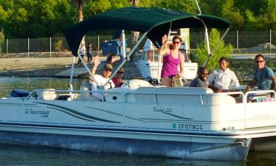 Pontoon Lake Tour On Lake Elsinore, California