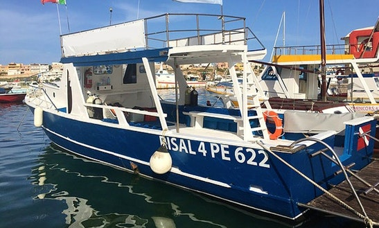 Scuba Diving Boat  In Lampedusa