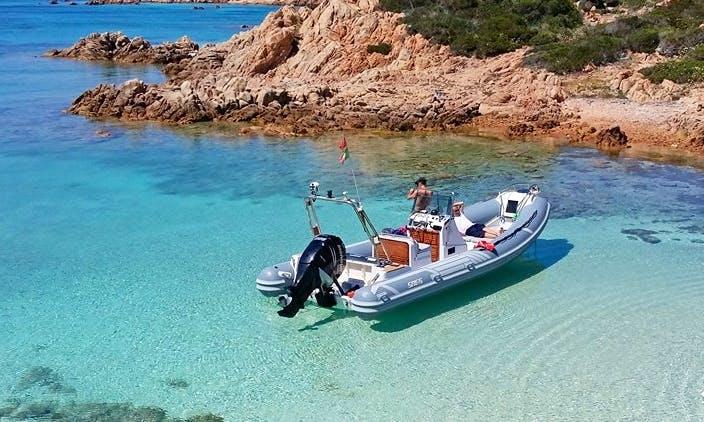 26' RIB Boat Rental In Palau, Italy