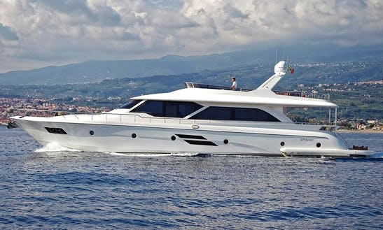 Charter 78' Fly Marco Polo Raphael Power Mega Yacht In Sicilia, Italy