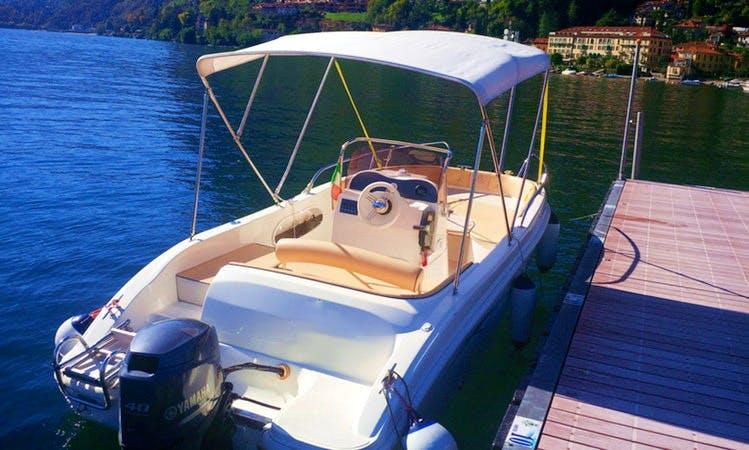AS 570 Open - 7 Seats Deck Boat Rental in Bellagio