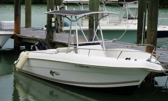 20' Aqua Sport Center Console Rental In Marathon, Florida