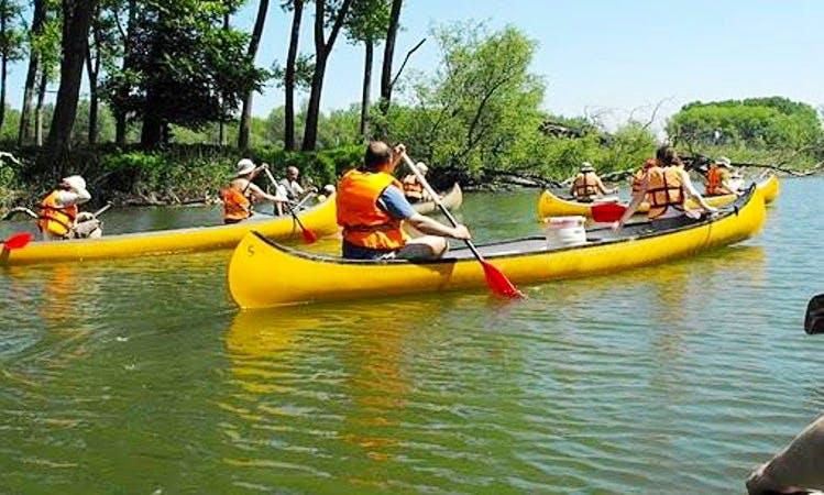 Enjoy Canoeing in Dunasziget, Hungary