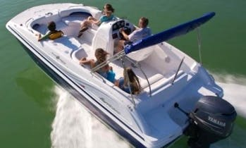 19' Deck Boat Rental In Key West, Florida