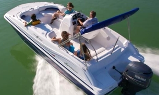 19' Deck Boat Rental In Key West, Florida