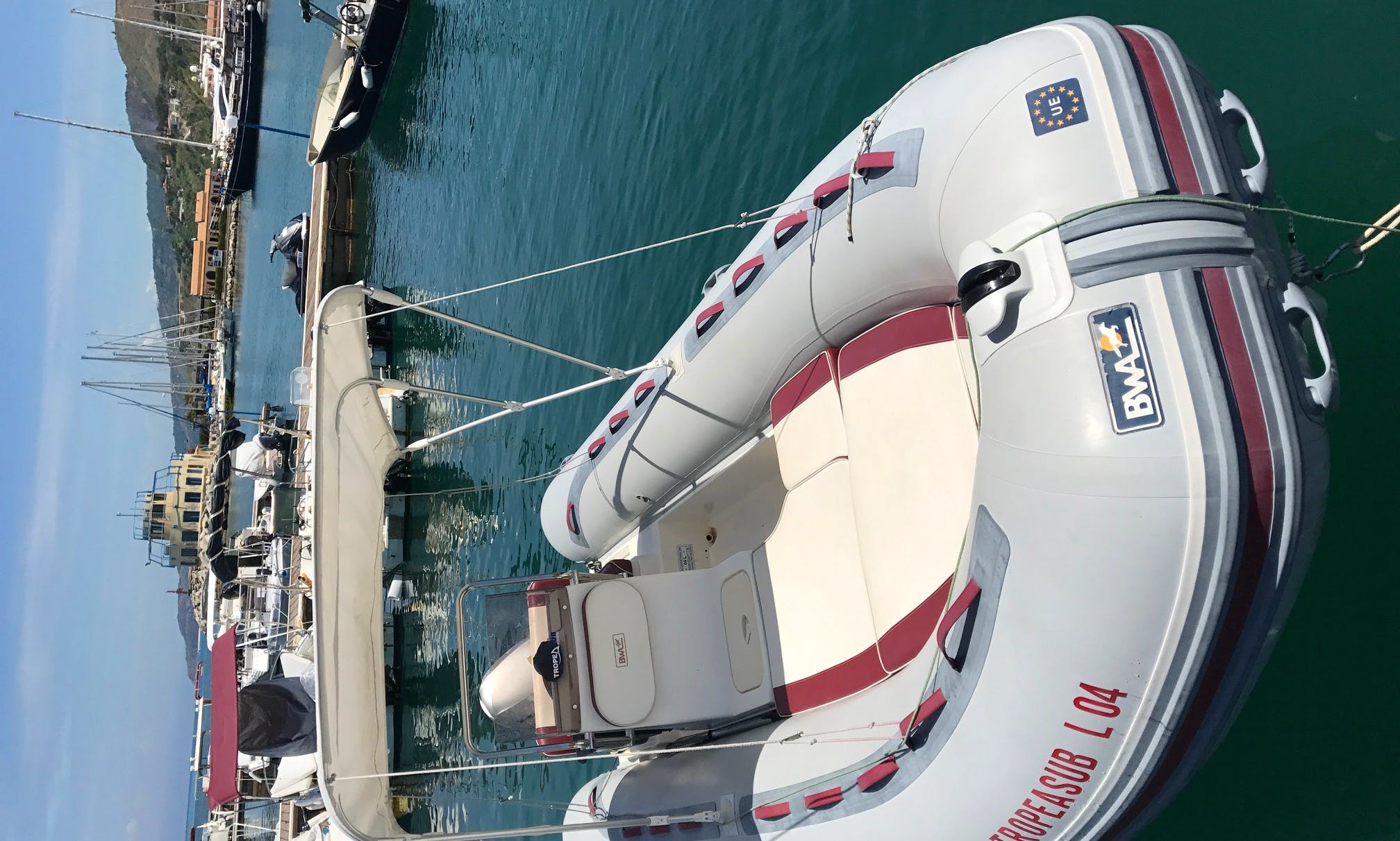 17' Gommone BWA Platinum RIB rental in Tropea