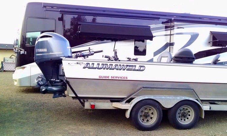 Full Day Fishing Trip on 23' Alumaweld Super Vee Jet Boat in Vashon