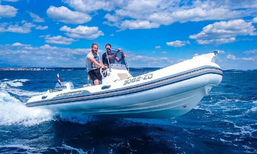 Rent this Capelli Tempest 570 + Honda 135 RIB and cruise the waves from Zadar, Croatia