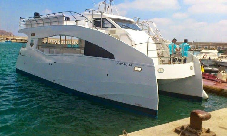 Luxury Catamaran 'Vision Submarina' Charter in Spain