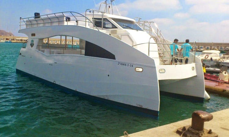 Luxury Catamaran 'Vision Submarina' Charter in Spain