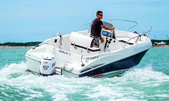 Open D.5.7 Deck Boat Rental In La Rochelle, France
