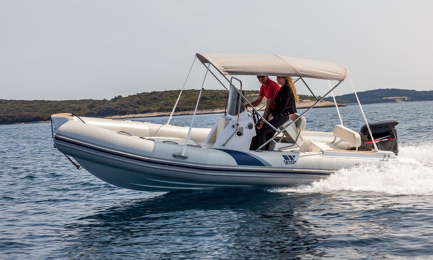Rent 19' Tiger Marine 550 Sportline RIB in Vrsar, Croatia