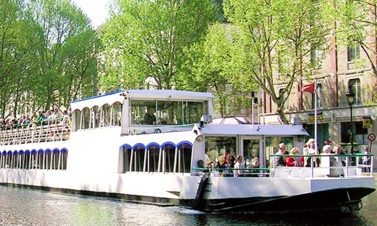 75ft Le Canotier Canal And Seine River Boat Charter In Paris, France