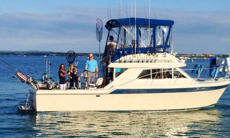 "Captained Charter on 32ft ""Fish XTC"" Chris Craft Yacht in Traverse City, Michigan"