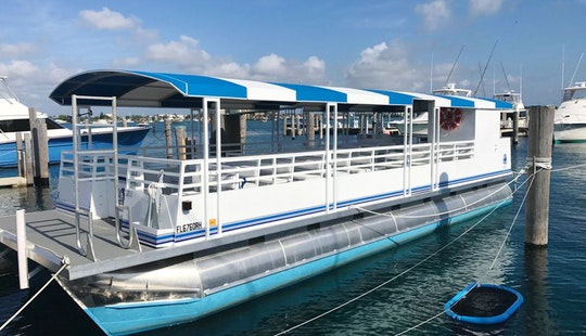 42 Passanger Pontoon Charter Boat, Parties, Weddings, Corporate Events In West Palm Beach, Florida