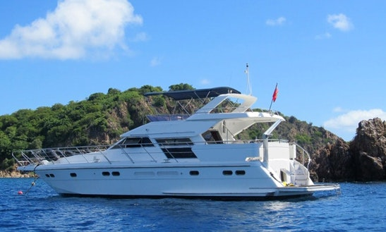 Charter A 56' Horizon Power Mega Yacht In Tortola, British Virgin Islands