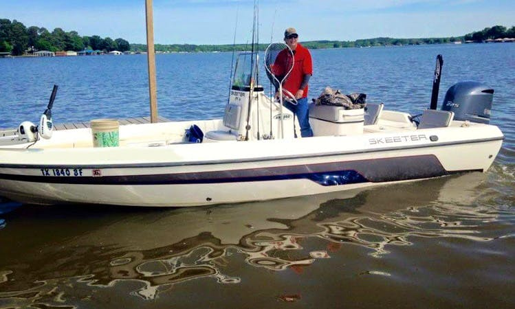23' Skeeter Fishing Charter in Frankston, Texas with Mike