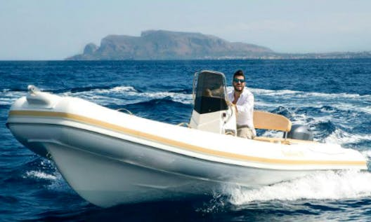 Charter 20' Sun Sea Rigid Inflatable Boat in Cefalù, Italy