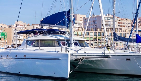 Captained Charter On 18 Person Sailing Catamaran In Marseille