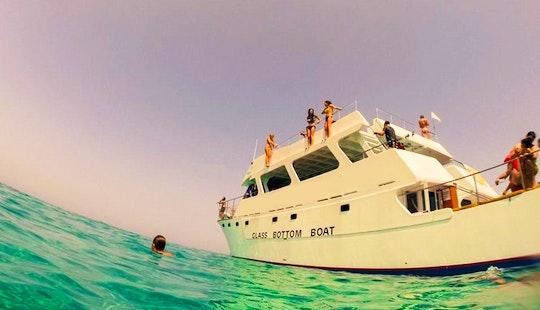 Glass Bottom Boat Cruising In Poli Crysochous