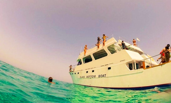 Glass Bottom Boat Cruising In Poli Crysochous