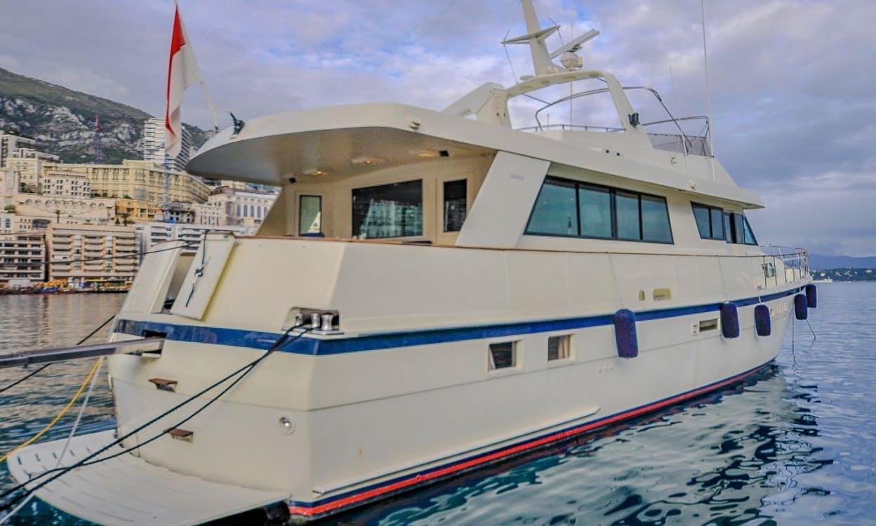 Luxury Motor Yacht rental in Monaco & San Remo 70' Hatteras