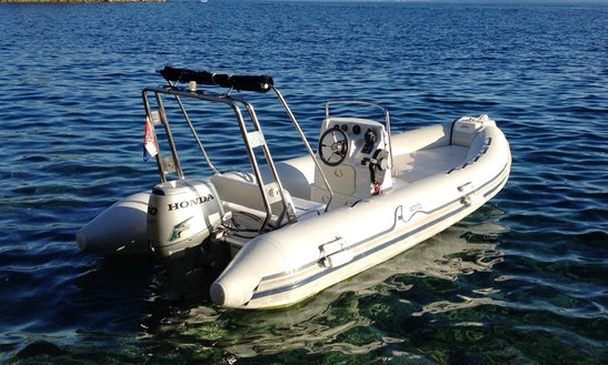 Rent 16' Sea Pioner Rigid Inflatable Boat In Rogoznica, Croatia
