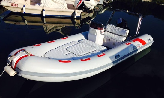 Charter 18' Jolly 5.45 Rigid Inflatable Boat In Tropea, Italy