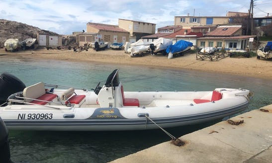 Charter 23' Motonautica Rigid Inflatable Boat In Marseille, France