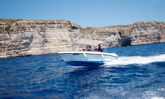 Self-driven Speed Boat 6a For Hire In Xlendi Bay, Munxar
