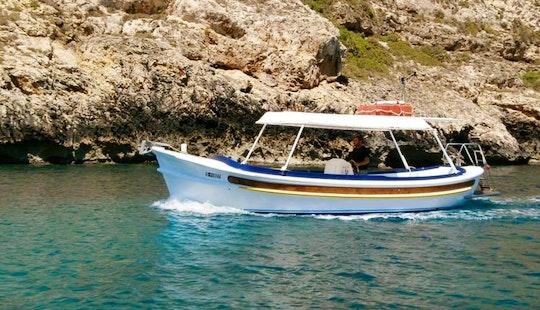 8 Person Speedboat For Hire In Xlendi Bay, Munxar
