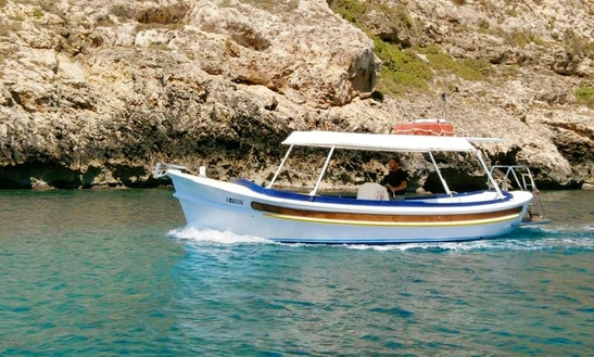 8 Person Speedboat For Hire In Xlendi Bay, Munxar