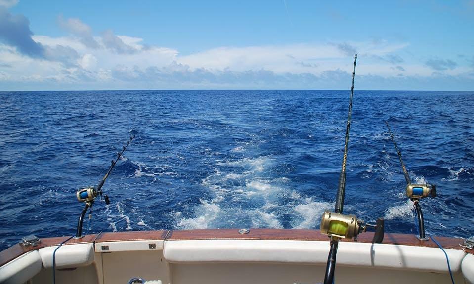 Enjoy Fishing in Kilifi, Kenya on 42' Nautique Sport Fisherman
