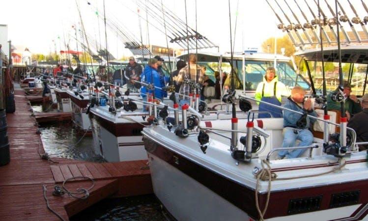 Sheboygan Fishing Charter on Six Baha Cruiser Sportfishing Boats with Capt. Dan