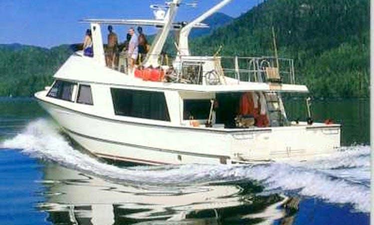 Enjoy a Motor Yacht Rental from a Fishing Lodge in Bella Bella
