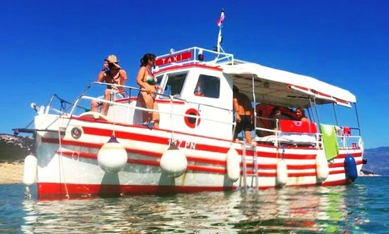 Taxi Boat Punat Ivex&helena, Passenger Boats On Krk Island, In Punat, Croatia