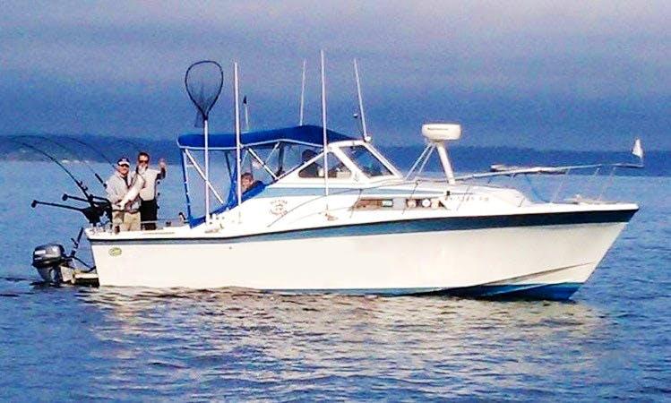 Cuddy Cabin Boat Fishing Charter in Everett, Washington