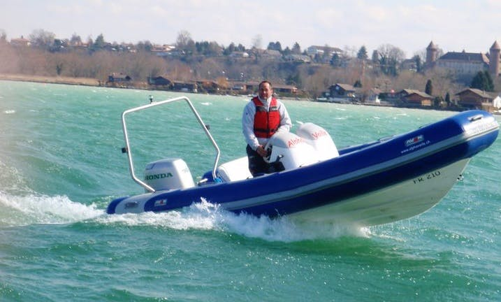 Rent Rigid Inflatable Boat in Estavayer-le-Lac, Switzerland