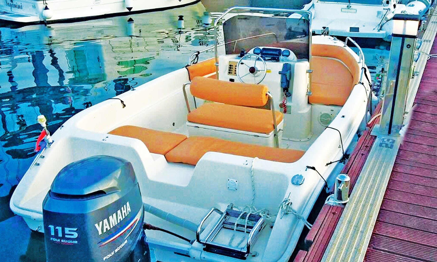 Explore the Adriatic Sea in 19' center console rental in Preko