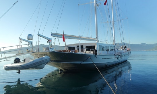 Charter 125' White Soul Gulet In Muğla, Turkey