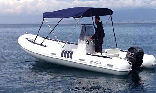 Rent 19' Stilmar 600 Rigid Inflatable Boat in Sorrento, Italy