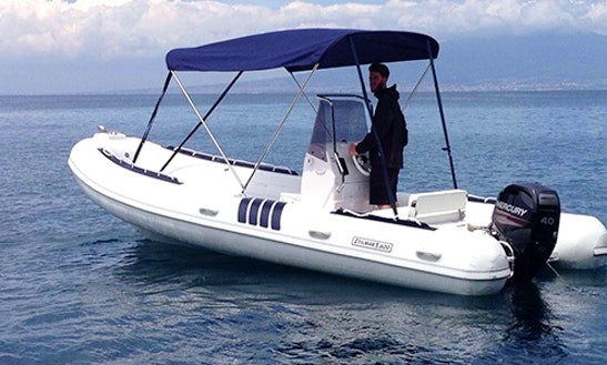 Rent 19' Stilmar 600 Rigid Inflatable Boat In Sorrento, Italy