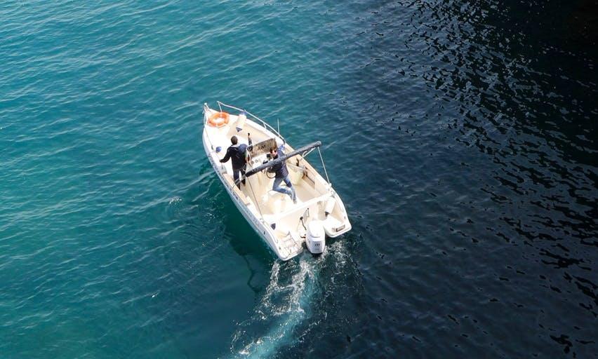 Boat excursion in Polignano a mare, Italy