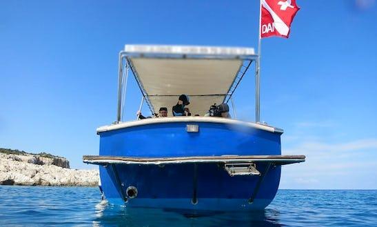Dive Boat In Kefallonia