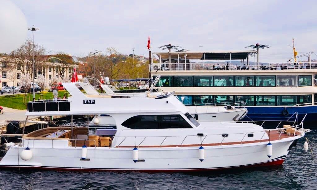 Enjoy a fantastic cruise on Motor Yacht rental in İstanbul, Turkey