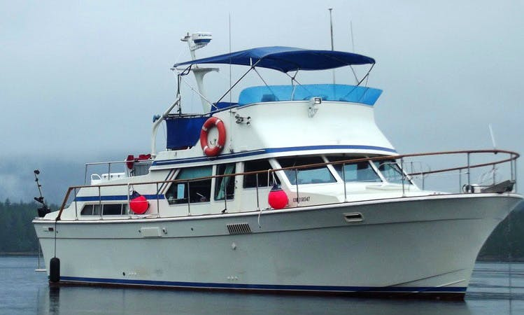 "40' Tollycraft ""My Time"" Fishing Trips in Masset, Canada"