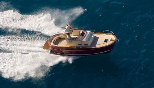 Charter 25' Gozzo Jeranto 750 Classic Motor Yacht In Capri, Italy